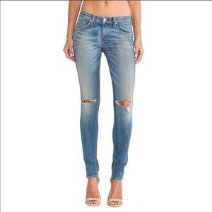 Rag & Bone Skinny Jeans Capistrano Distressed 26